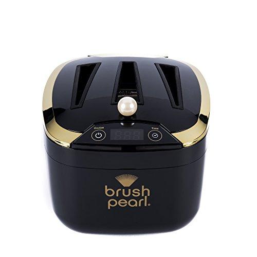 brush pearl Maquillage ultrasonique de force professionnelle électrique brosse le dispositif de nettoyage, maintient les pinceaux cosmétiques de maquillage 4 onces Noir