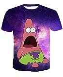 Camiseta 3D para hombre, diseo de Bob Esponja carbn XXL