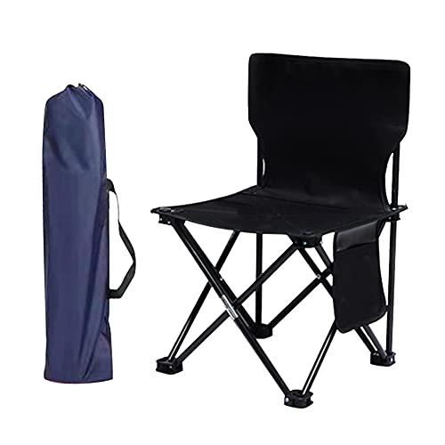 Silla de camping plegable, silla plegable, silla de camping portátil, silla al aire libre ligera portátil para pesca, jardín, senderismo, viajes, asiento exterior