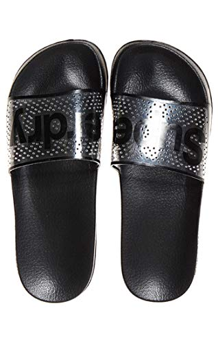 Superdry Damen PERF Jelly Pool Slide Zehentrenner, Schwarz (Black 02a), 40-41 EU