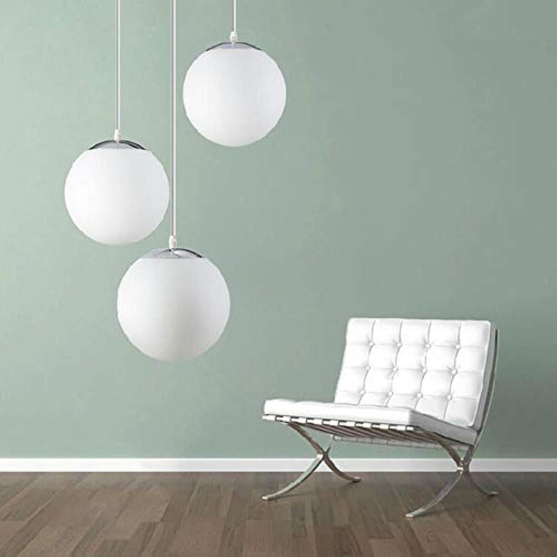 Moderne Pendelleuchte Weissglas Pendelleuchte Globe Kugelhngelampe Küchenarmaturen Leuchte Wohnraumbeleuchtung, wei, 200mm