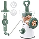 Manual Meat Grinder, Rotary Grinder Sausage Stuffer Easy to Clean, 3-IN-1 Hand Meat Grinder Mincer Durable for Meat, Sausage, Cookies, Churros, etc