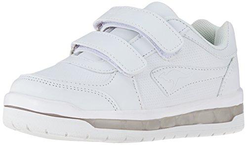 KangaROOS Unisex-Kinder Jeyled V SL Sneaker, Weiß (White), 37 EU