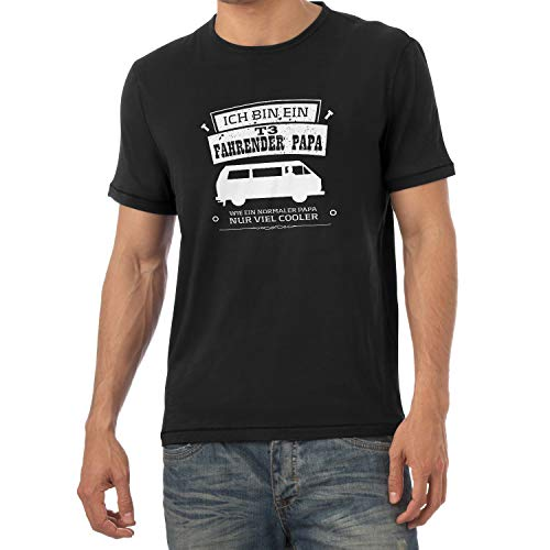 NERDO Ich bin ein T3 Fahrender Papa - Herren T-Shirt, Größe L, schwarz