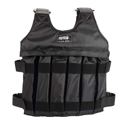 LIOOBO 1-20KG Weighted Vest Adjustable Breathable Outdoor Combat Trainning Gear Hunting Vest Field Cloethes for Game Fitness (Only Empty Vest)