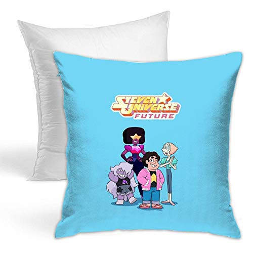 Steven Cartoon Universe Throw Pillows Stylish Cushion Covers Home Decor Hold Pillow for Living Room Couch Bedroom 18x18 Inch