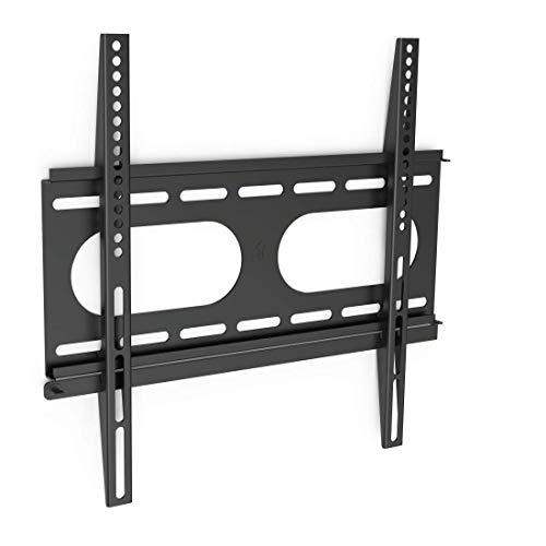 Hama TV-Wandhalterung (Fernseher von 32 bis 56 Zoll (81 cm bis 142 cm Bildschirmdiagonale), inkl. Fischer Dübel, VESA bis 400 x 400, Wandabstand nur 2,5 cm, max. 50 kg) schwarz