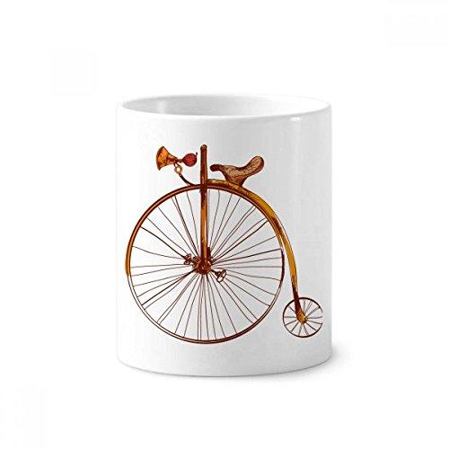 DIYthinker Altertümlich Fahrrad High Wheeler Britain Keramik Zahnbürste Stifthalter Tasse Weiß Cup 350ml Geschenk 9.6cm x 8.2cm hoch Durchmesser