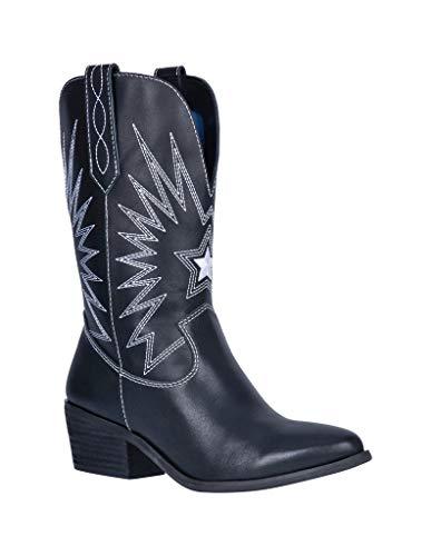 Dingo Women's Rockstar Western Boot Round Toe Black 10 M