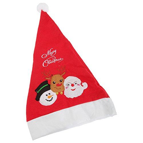 Textiles Universels Bonnet de Noël avec Pompon (Taille Unique) (Bonhomme de Neige/Père Noël)