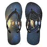 Linomo Planet Solar System Slim Flip Flop Sandalias de playa de verano para mujer, color, talla 36.5/39 EU