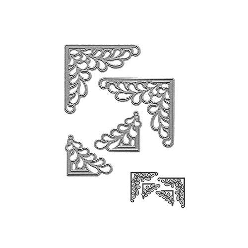 Lai-LYQ Metallschneidwerkzeuge, Motorradumschlag Ecke Sammelalbum Schablone DIY Prägepapier Grußkarte Hand Herstellung Schimmel Vorlage Album Craft Decor Festival Geschenk JAM0674