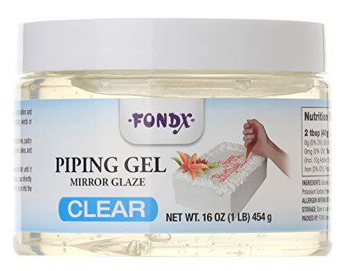 FondX Clear Mirror Glaze Piping Gel, 1 Pound