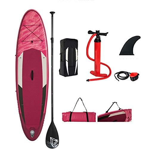 Stand up Paddle Boards Tabla de surf - Stand up paddleboards inflables Tabla de surf de 12 cm de grosor con bolsa de transporte de accesorios SUP, remo ajustable, cuerda de seguridad para el tobillo