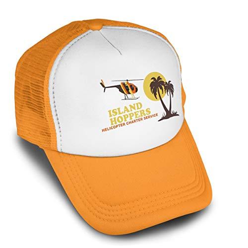 Magnum Pi Island Hoppers Baseball Cap Adjustable Hip Hop Flat Hats Men Womens Cool Peaked Trucker Hats Orange