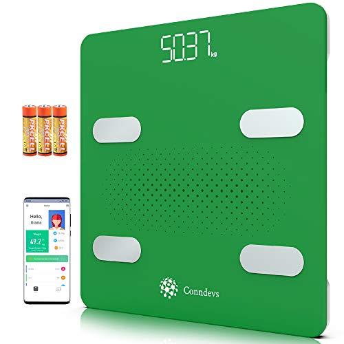 Digitale Waage WIFI Personenwaage Impedanzmesser Smart mit App | Fett- und Fettmessgerät | Diagnostik zur Körperkomposition | Kompatibel mit Apple Gesundheit, Google Fit und Fitbit