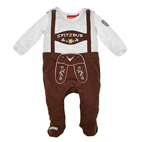 BONDI Baby Strampler Spitzbub 91377 | Braun/Weiß Gr. 56