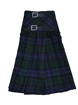 McWilliams Black Watch Tartan Ladies Buckle Womens Billie Kilt Mini Skirt  32 Black Watch