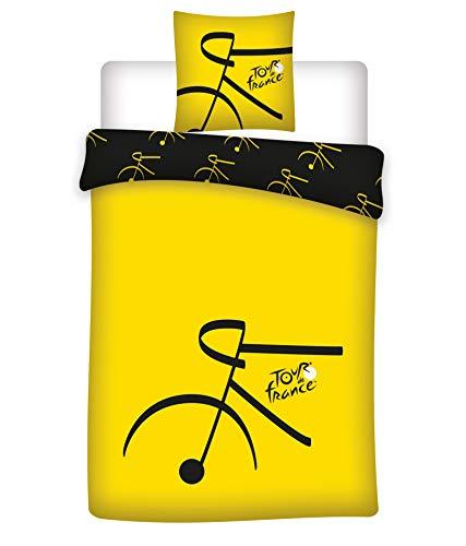 BrandMac Tour de France Fahrrad Bettwäsche 200 x 135, 80 x 80 100% Baumwolle, Deutsche Standardgröße