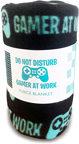 Funny Party Pieces Gaming Blanket Do Not Disturb Gamer at Work Travel Throw Bed Blankets Funny...