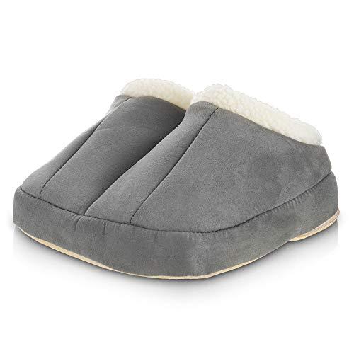 FiNeWaY Electric 2 in 1 Heated Foot Massager & Warmer Comfort Fleece Suede...