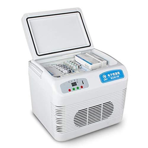 YNAYG Diabete Mini frigo,Frigorifero Portatile da 12 Litri, Dispositivo di Raffreddamento per insulina Reefer per farmaci, vaccino per l'insulina per Il Riscaldamento del Frigorifero per casa/Auto
