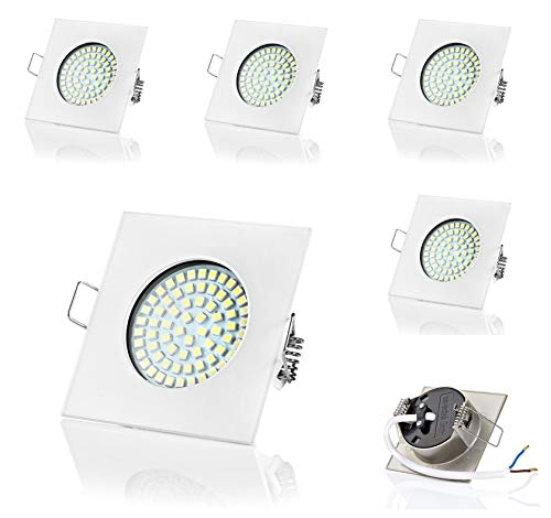 6 x SW de 68 N Sweet LED Spot LED encastrable plates | 320 lumens | 3,5 W | 230 V, Eckig,Weiss, Kaltweiss, G4 3.5 watts 230.00 volts