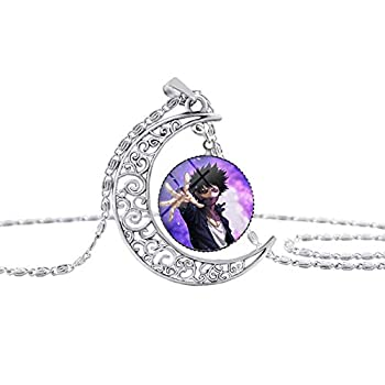 WerNerk My Hero Academia Anime Pendant Glass Cabochon Necklace Cosplay Cartoon Necklace Pendant Chain Necklace Nice Gift for Anime Fans dabi