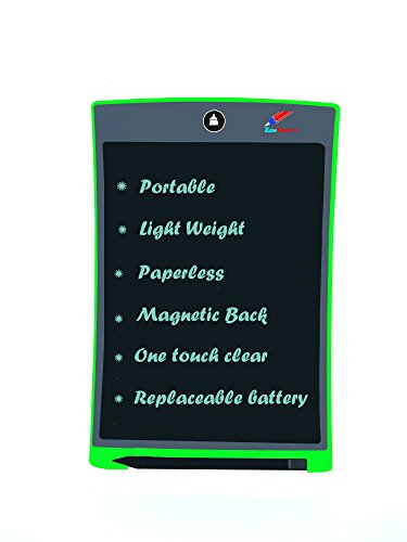 LCD Writing Tablet for Kids 8.5 inch Writing And Drawing Board With Stylus One Erase Button For Kids Office or Kitchen Magnetic Back for fridge and Bulletin Board