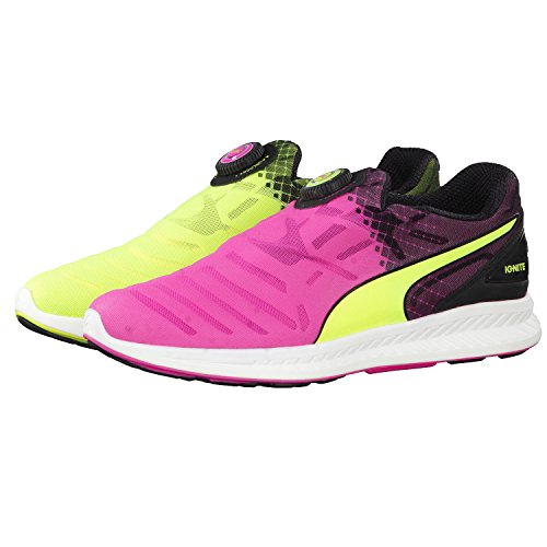 PUMA Unisex Ignite Disc Tricks Laufschuhe, Multicolor Safety Yellow Pink Glo Black, 41 EU