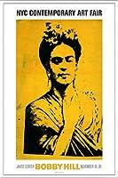 ポスター ボビー ヒル Kahlo 額装品 アルミ製ベーシックフレーム(ホワイト)
