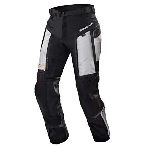 SHIMA Hero, Motorradhose Touring Herren Mit Protektoren Textil Herren Motorrad, (S-4XL, Grau), Größe M