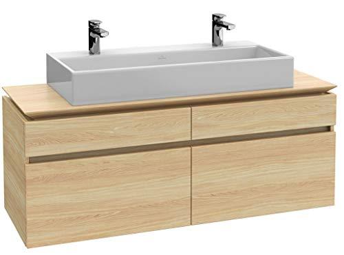 Villeroy & Boch Legato Waschtischunterschrank B14900, 1200x550x500mm, Waschtisch mittig, Farbe: White Wood