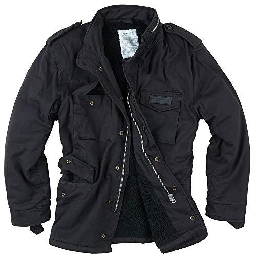 Surplus Raw Vintage Paratrooper Jacke, schwarz, M