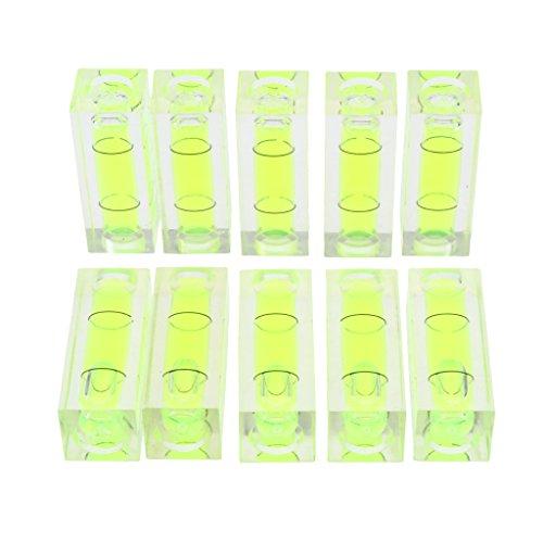 10 Stücke Mini-Wasserwaagen aus Acryl für Öfen, Kühlschränke, Waschmaschinen
