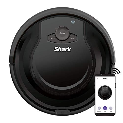 Shark AV751 ION Robot Vacuum with Wi-Fi and Voice Control, 0.45 Quarts, in Black (Renewed) Dining Features Kitchen Robotic Vacuums