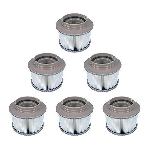 YanBan 6 Pack Vervanging Hot Tub Filters voor MSPA FD2089, Filter Cartridge Pomp Fit voor MSPA alle Huidige Hot Tubs