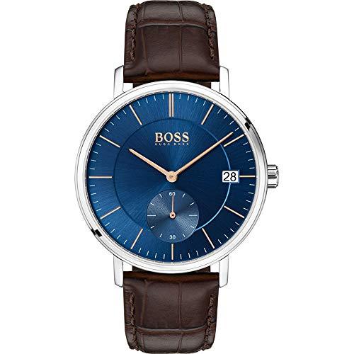Hugo BOSS Reloj Analógico para Hombre de Cuarzo con Correa en Cuero 1513639