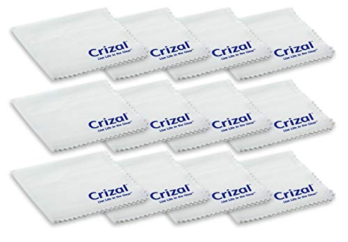 Crizal Lens Cleaning Cloth 12 Pack Wipes Micro Fiber Cleaning Cloth in Own Carry Case. for Crizal Anti Reflective Lenses|#1 Best Microfiber Cloth for Cleaning Crizal and All Anti Reflective Lenses|