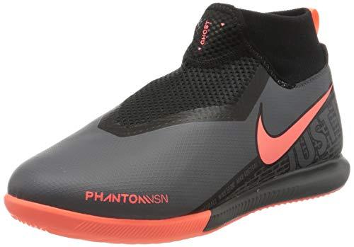 Nike Unisex Jr. Phantom Vision Academy Dynamic Fit Ic Fußballschuhe für Kinder, Dunkelgrau/Helle Mango/Schwarz, 36 EU