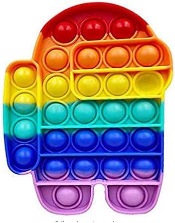 read description Rainbow Push Bubble Pops Fidget Sensory Toy