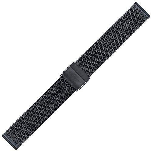 Liebeskind Berlin Uhrenarmband 18mm Edelstahl Schwarz Mesh/Milanaise - B_LT-0063-MQ