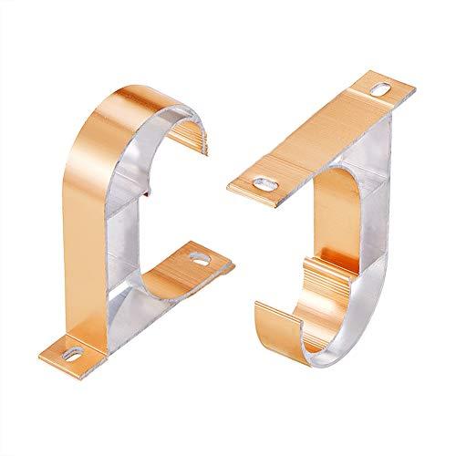 INCREWAY - Juego de 2 soportes para barra de cortina de alea
