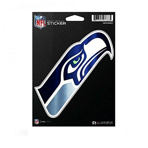 Sticker-Designs 10cm! Klebe-Folie Wetterfest Made-IN-Germany Seattle Seahawks NFL Football Team Logo UV&Waschanlagenfest Auto-Aufkleber Profi-Qualität! F1763