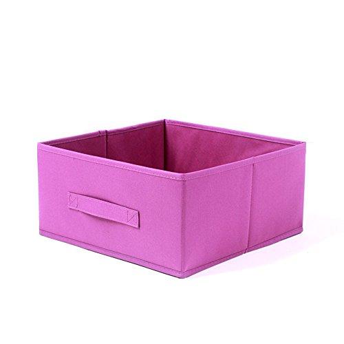 Onlyup Cesta de tela para la ropa en cesta de almacenamiento, sin tapa, sistema de organización, caja de almacenamiento, flexible, para estantería, armario, rosa (31 x 31 x 15 cm)