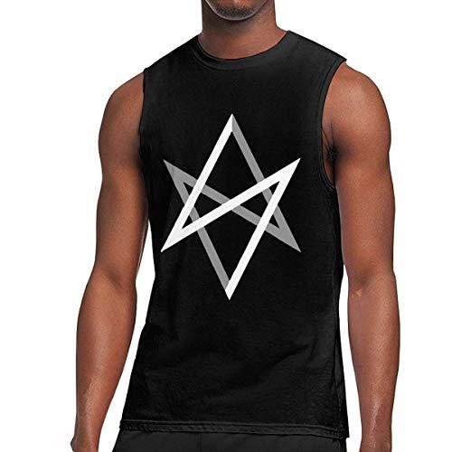 WLQP Camiseta sin Mangas para Hombre Unicursal Hexagram Men's Tanks Gym Sport Compression Shirt