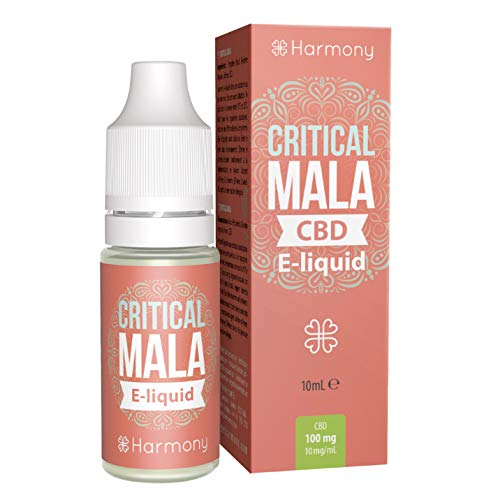 Harmony E-líquido de CBD (más de 99% pureza) - Terpenos de Critical Mala - 30 mg CBD en 10 ml - Sin Nicotina