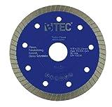 Diamanttrennscheibe Fliesentrennscheibe Turbo Fliese 125x22,23mm extradünn 1,2mm Keramik Naturstein Steinzeug Feinsteinzeug Klinker