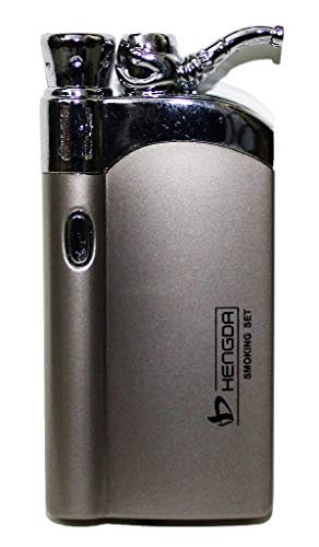 Welcome Back Butane Jet Flame Cigarette Lighter with Lite (Silver)