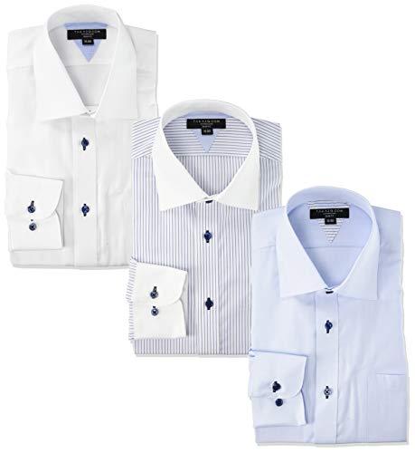 [タカキュー] ワイシャツ 形態安定 抗菌防臭 スリムフィット 長袖シャツ 3枚セット 【WEB限定販売】 メンズ 02 日本 3780 (日本サイズS相当)